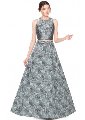 Long Skirt And Crop Top Formal - Dress Ala